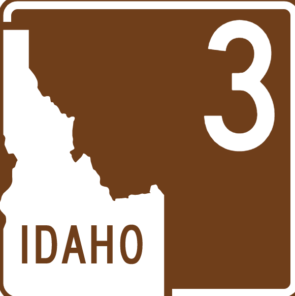 An Idaho state sign that hides an ambiguous figure illusion.