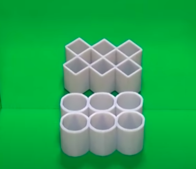 The ambiguous cylinder illusion created by Kokichi Sugihara and illustrated in the Museum of Illusions NYC blog.