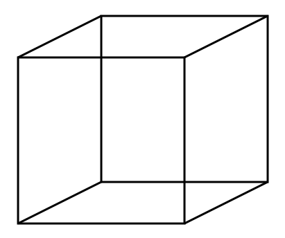 The Necker Cube - one of the optical illusions used for the MOI NYC blog.